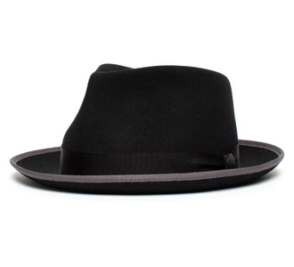 Goorin Bros. holiday wide brim wool fedora Black left side view