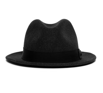 Goorin Bros. wonder short brim wheat straw fedora Charcoal front view