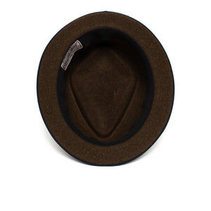 Goorin Bros. phil jones short brim wool felt porkpie Brown under view