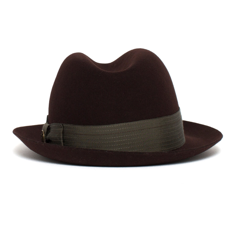 ee94dc4124734 ... Goorin Bros. big lou center dent wide brim felt fedora hat Burgundy  back view