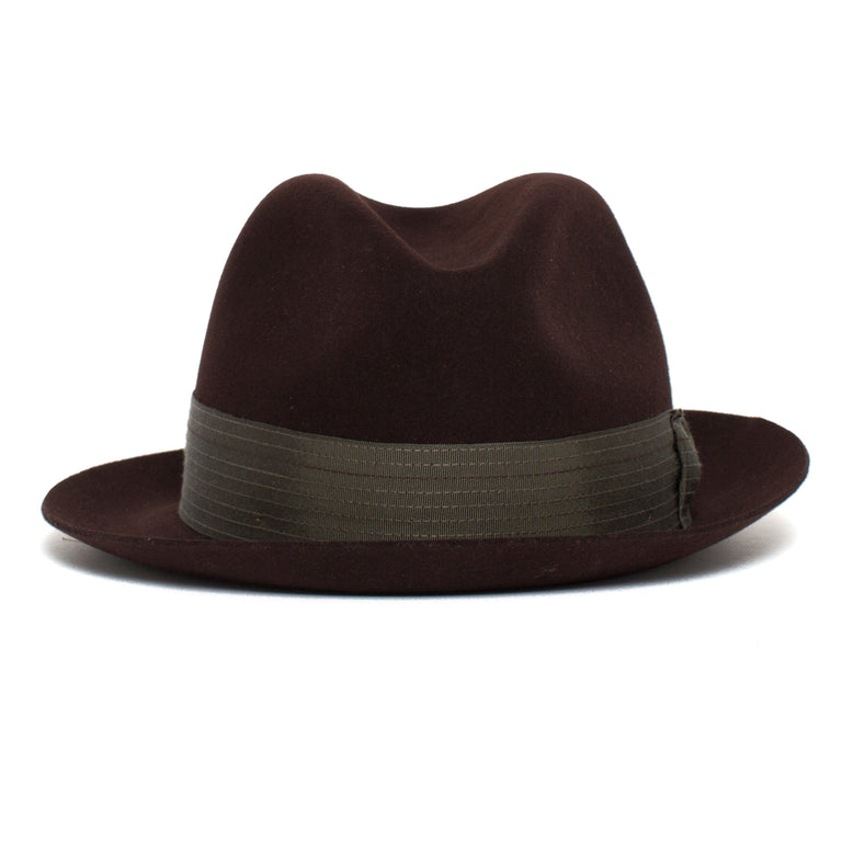 189130d63916a Goorin Bros. big lou center dent wide brim felt fedora hat Burgundy front  view