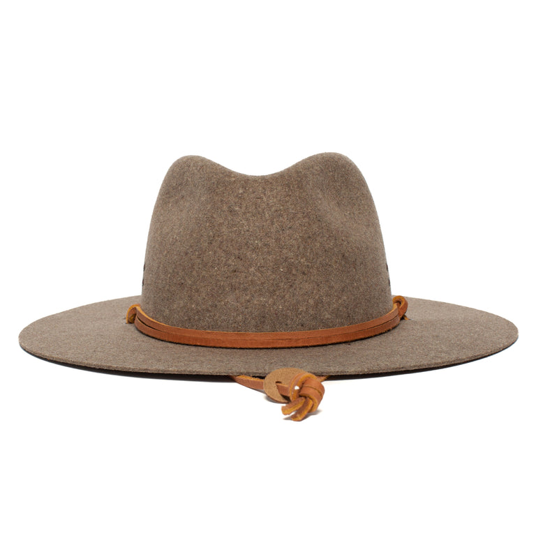 0bfa4ac9df49c Goorin Bros. ruby clark center dent wide brim felt fedora hat Brown front  view