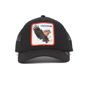 Goorin Bros. freedom cotton 5 panel baseball cap Black front view