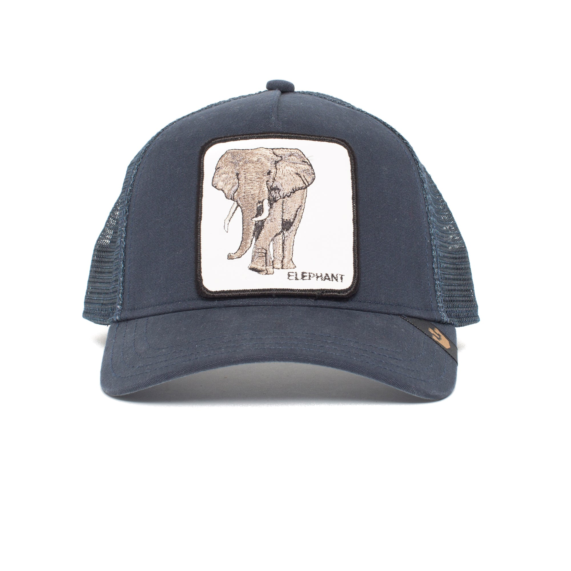 Goorin Bros. elephant 5 panel trucker baseball cap Navy front view