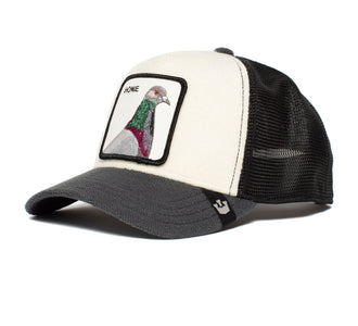 Goorin Bros. home pigeon animal farm trucker baseball cap Grey left side view
