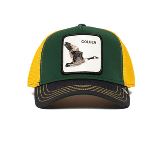 Goorin Bros. golden goose animal farm trucker baseball cap Green front view