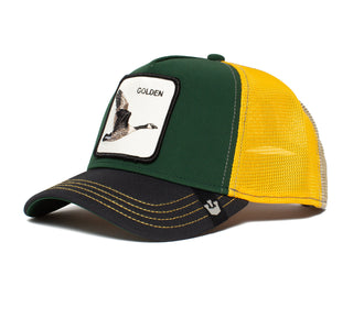 Goorin Bros. golden goose animal farm trucker baseball cap Green left side view