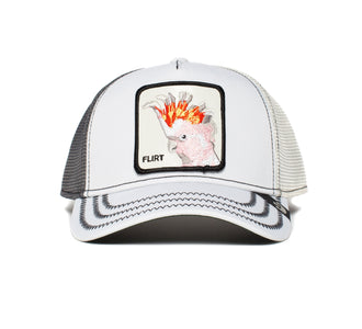 Goorin Bros. big flirt animal farm trucker baseball cap White front view