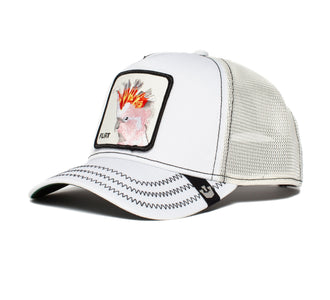 Goorin Bros. big flirt animal farm trucker baseball cap White left side view