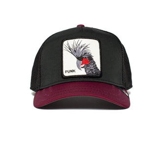 Goorin Bros. punk sqwauk animal farm trucker baseball cap Black front view