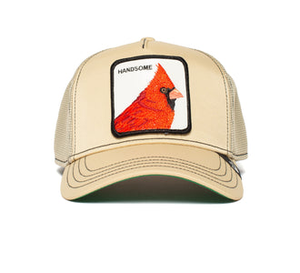 Goorin Bros. handsome boy animal farm trucker baseball cap Khaki front view