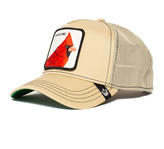 Goorin Bros. handsome boy animal farm trucker baseball cap Khaki left side view