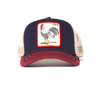 Goorin Bros. all american rooster cotton trucker baseball cap Navy front view