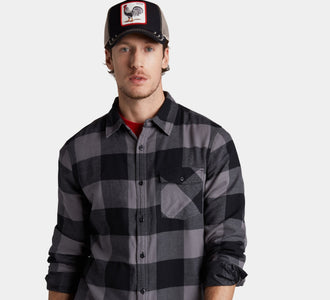 Goorin Bros. rooster cotton trucker baseball cap Black left side view