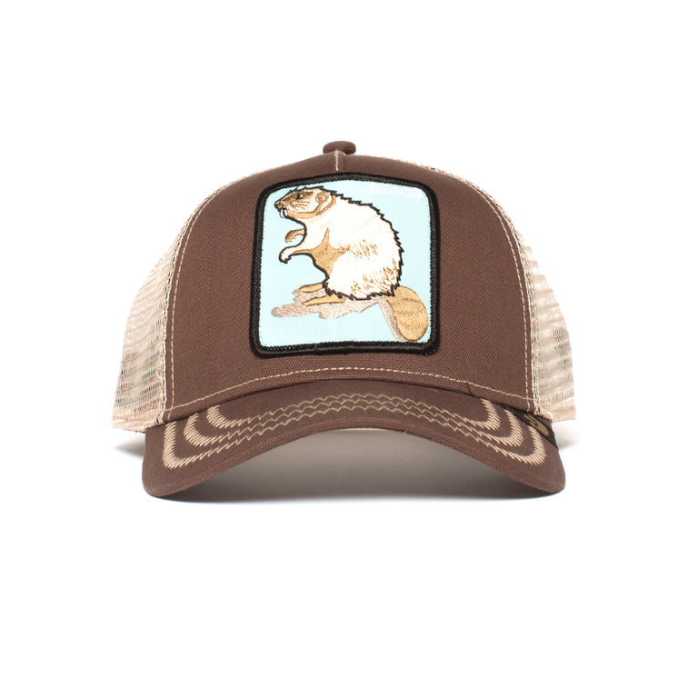 09306a6374eb5 Goorin Bros. beaver cotton trucker baseball cap Brown front view