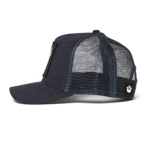 Goorin Bros. wolf baseball cap Navy side view