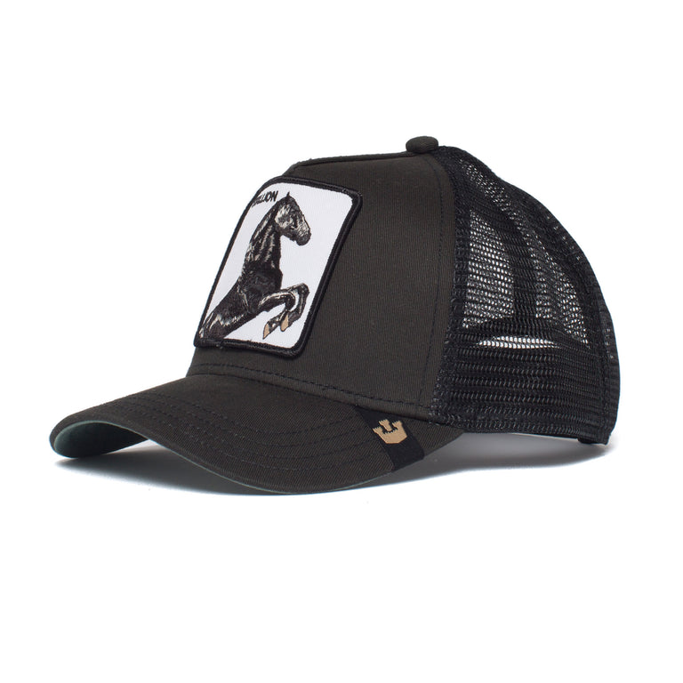 3bd758c5 ... Goorin Bros. stallion baseball cap Black left side view ...
