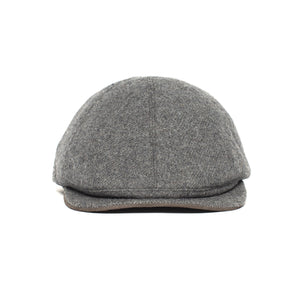 Goorin Bros. ronald amos wool blend 6 panel ivy flatcap Charcoal front view