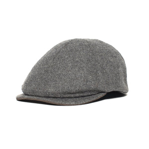 Goorin Bros. ronald amos wool blend 6 panel ivy flatcap Charcoal left side view