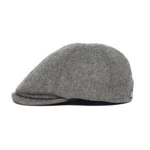 Goorin Bros. ronald amos wool blend 6 panel ivy flatcap Charcoal side view