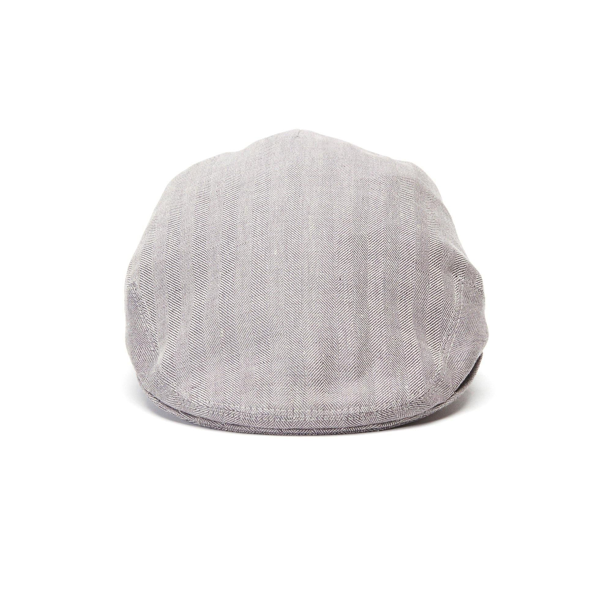Goorin Bros. alfred linen low profile ivy flatcap Grey front view