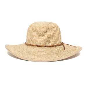 Goorin Bros. desert sun straw floppy hat Natural front view