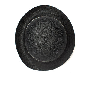 Goorin Bros. rila straw assymetrical cloche hat Black top view