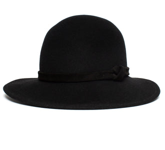 Goorin Bros. norah asymmetrical brim wool womens hat Black left side view