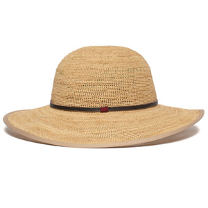 Goorin Bros. on stage wide brim raffia straw floppy womens hat Natural side view