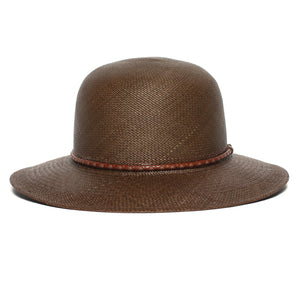 Goorin Bros. rina straw wide brim floppy hat Olive front view