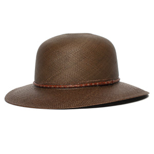 Goorin Bros. rina straw wide brim floppy hat Olive left side view