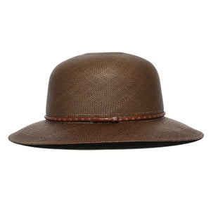 Goorin Bros. rina straw wide brim floppy hat Olive side view