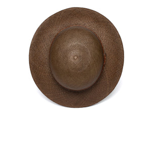 Goorin Bros. rina straw wide brim floppy hat Olive top view