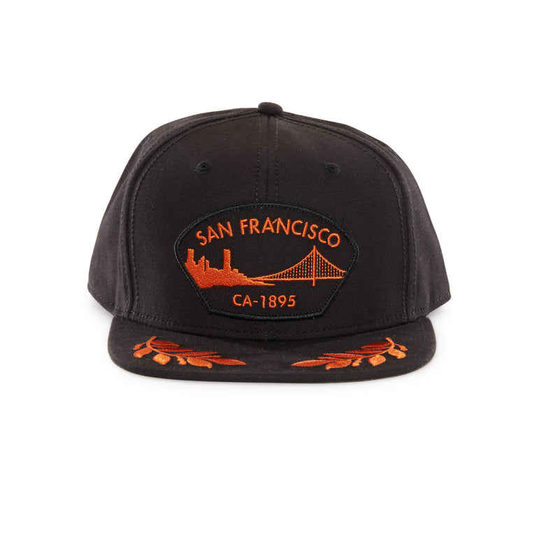 d5a2d00ddcbc6 Goorin Bros. san francisco cotton flat brim baseball cap Black front view