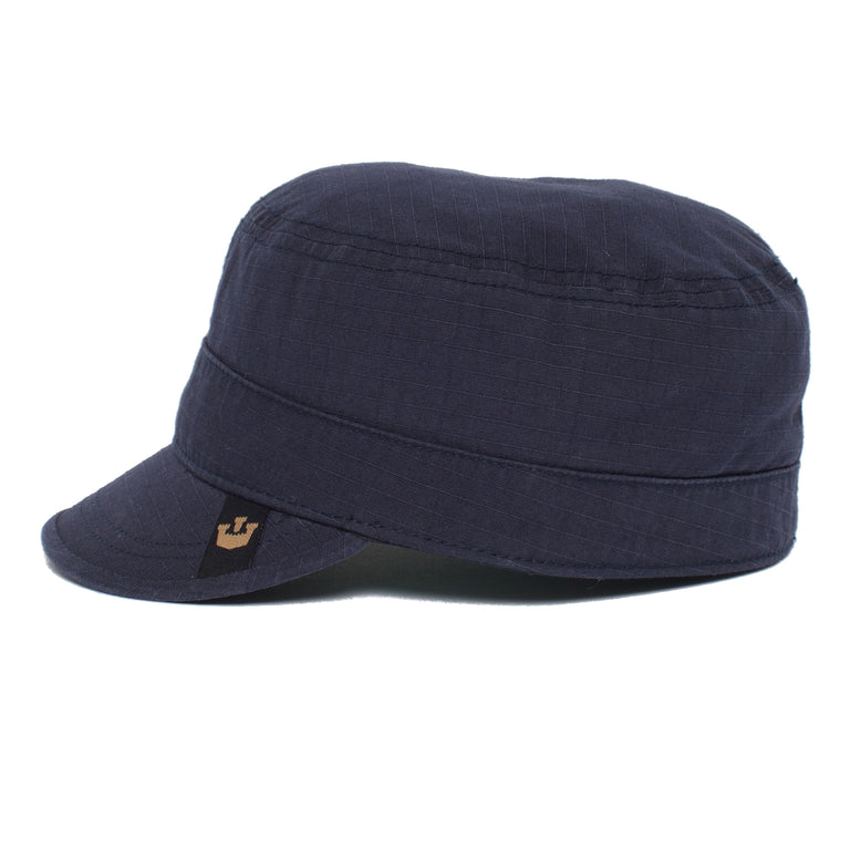 ef21726f55 ... Goorin Bros. private cotton cadet cap Navy left side view ...