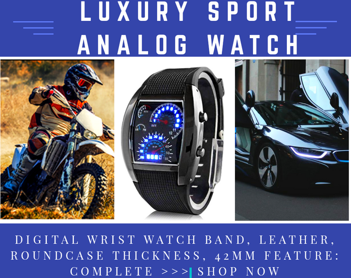 Fashion Men's Stainless Steel Luxury Sport Race Car Analog Quartz LED Wrist Watch - Next-Genration.Store
