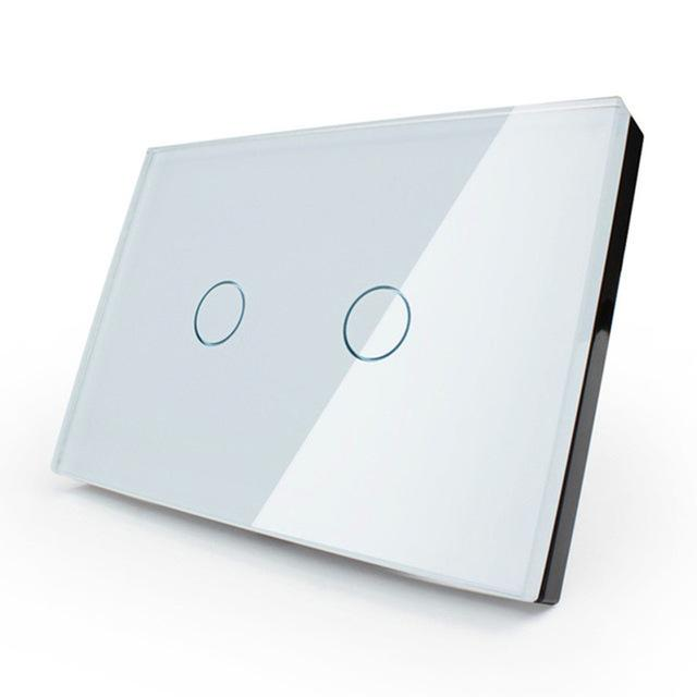 Manufacturer,Smart Home,White Crystal Glass Panel,Us/Au Wall Light Touch Switch LED - http://www.next-generation.store