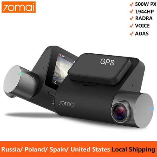 Dash Cam 1944P GPS ADAS Car Camera Dvr 70 mai Pro Dashcam Voice Control 24H Parking Monitor WIFI Vehicle Camera - http://www.next-generation.store