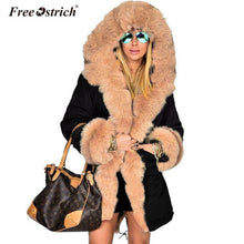 Ostrich Jackets Solid Hooded Fur Casual Warm Thick Winter Jacket Jaqueta Feminina... - http://www.next-generation.store