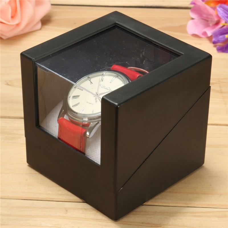 Black Wrist Watch Box 7.3x7.3cm Holder Jewelry Transparent Anniversary Gift - http://www.next-generation.store