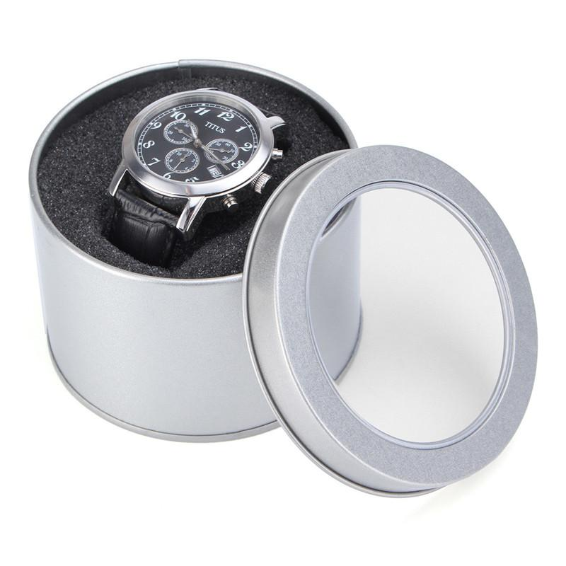 Lowest Price Silver Round Metal Jewelry Case With Cushion 3.54x2.36