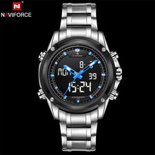 NAVIFORCE  Quartz Watch Men Clock LED Digital Army Military Sport Wristwatch - http://www.next-generation.store