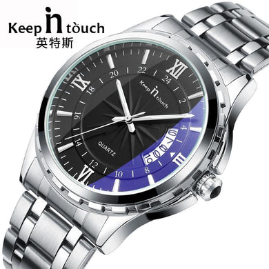 Noctilucent Casual Man Watches Retro Relogio Masculino Luminous Steel Band Calendar Watch - Next-Genration.Store