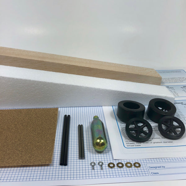 Basswood Dragster Kit (Co2) -  - Activity Based Supplies