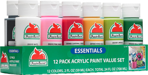 Apple Barrel Essentials 12 Color Paint Set