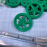 "Co2 Dragster Wheels - Hobby Wheels for Miniature Cars and Educational Project Kits using 1/8"" Axles - Co2 Dragster Product Line - Activity Based Supplies"