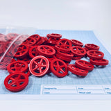 "Co2 Dragster Wheels -  Project Hobby Wheels with 1/8"" Hole Made for Co2 Dragster Cars & All Hobby Project Kits or Class Room Activities (Pack of 100) - Co2 Dragster Product Line - Activity Based Supplies"
