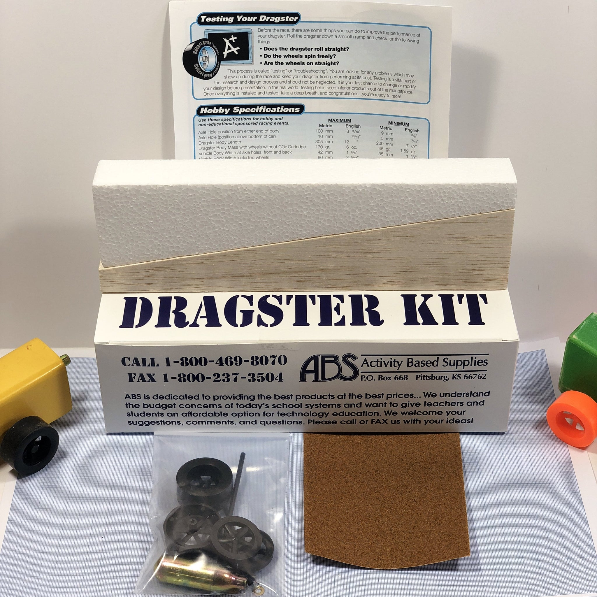 Balsa Dragster Kit (Co2)