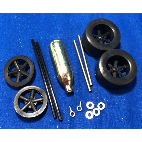 Car Kit Wheel Bag (For Co2 Dragster) Dragster Parts and Accessories Black / YES