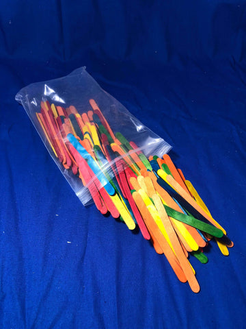 Colored Craft Sticks 150/pk - Miscelanious - Activity Based Supplies
